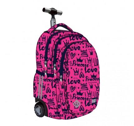 """Študentský batoh s kolieskami Trolley """"Love 2020"""""""