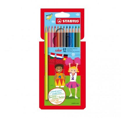 Farbičky Stabilo color, súprava 12 ks