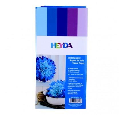 Papier hodvábny, 50 x 70 cm, modrý mix, 10 ks
