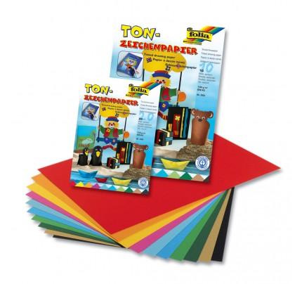 Blok farebných papierov A4, 130 g, 20 listov