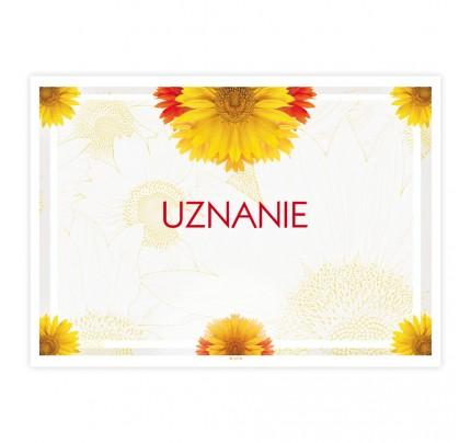 Uznanie univerzálne s kvetinovou dekoráciou