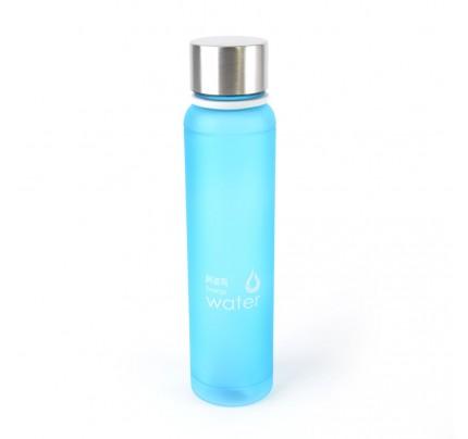 Plastová fľaša s kovovým uzatváraním, 480 ml, modrá