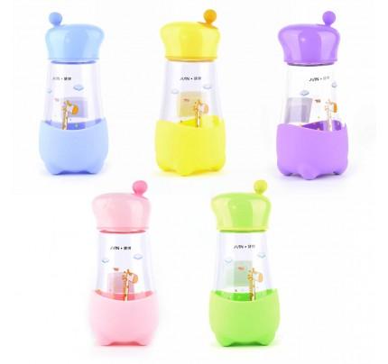 "Sklenená fľaša ""žirafa"", 350 ml, mix farieb"