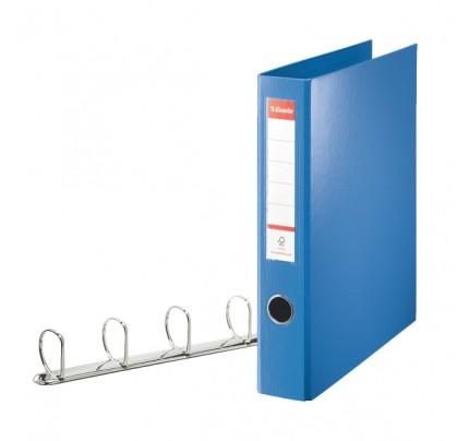 Zakladač 4-krúžkový Esselte A4 maxi, celoplastový, 6,2 cm, modrý