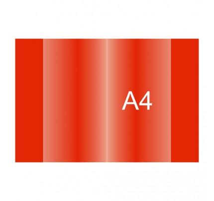 Obal na zošit PVC, A4, červená