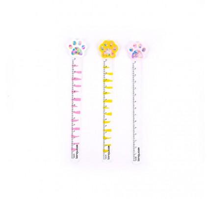 "Veselé pravítko ""labka"", 15 cm, mix farieb"
