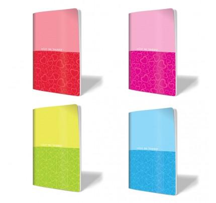 """Exkluzívny zošit A5, """"Neon – mix farieb"""", 52 listov, linajkový (8 mm)"""