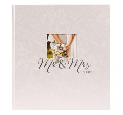 "Kniha hostí Goldbuch ""Mr. & Mrs."", 23 x 25 cm, 88 listov"