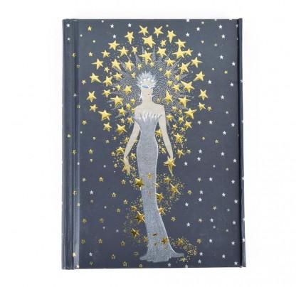 "Luxusný poznámkový zápisník – záznamová kniha FLAME TREE PUBLISHING ""Erté – Starstruck"", A6, 176 listov, linajkový"