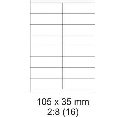 Etikety PRINT, 105 x 35 mm, biele, 100 hárkov