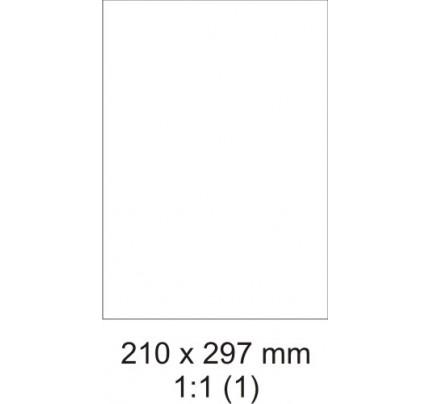 Etikety PRINT, 210 x 297 mm, biele, 100 hárkov