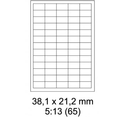 Etikety PRINT, 38 x 21,2 mm, biele, 100 hárkov