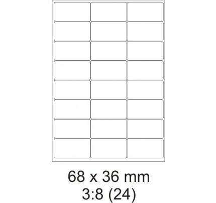 Etikety PRINT, 68 x 36 mm, biele, 100 hárkov