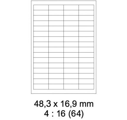 Etikety PRINT, 48,3 x 16,9 mm, biele, 100 hárkov