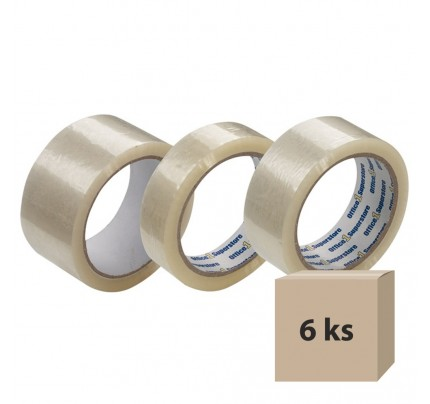 Lepiaca páska 25 mm x 66 m, transparentná, 6 ks