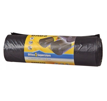 Polyetylénové vrecká do odpadkového koša, 55 x 75 cm, 50 litrov, 10 ks