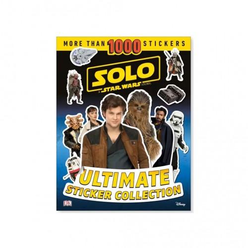 """Kniha v anglickom jazyku s nálepkami """"Solo A Star Wars Story USC"""""""