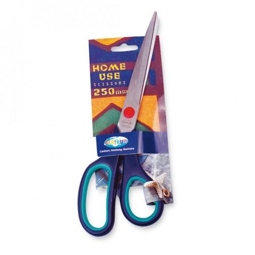 Nožnice 25 cm, farebná rúčka