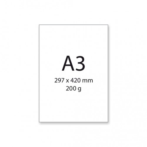Papier na akvarel A3, 200 g/m², 25 ks