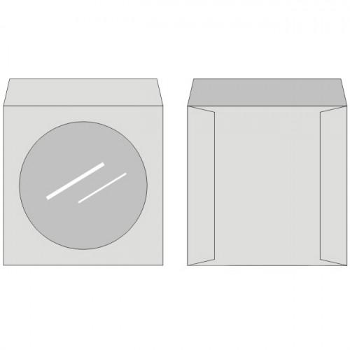 Obálky na CD, samolepiace, s okienkom, 50 ks