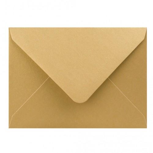 Farebné obálky C7, obyčajné, perleťové zlaté, 5 ks