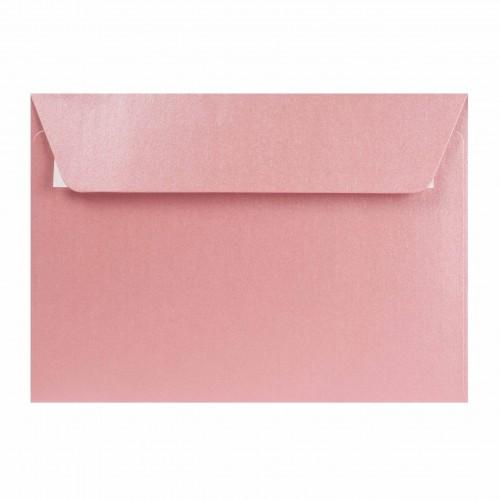 Farebné obálky C6 s odtrhávacou páskou, perleťové ružové, 5 ks