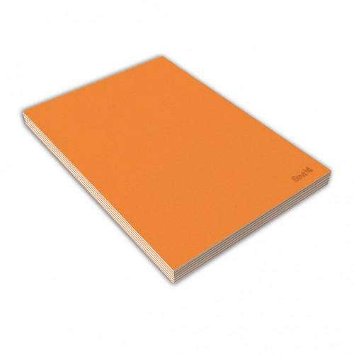 Blok A5 lepený, 80 listov, čistý, oranžový