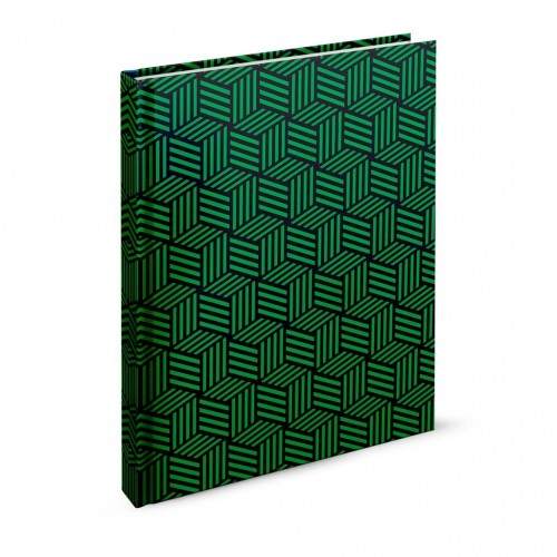 """Záznamová kniha A4 """"abstrakt"""", 200 listov, linajková, zelená"""