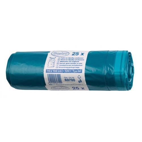 Zaťahovacie vrecká do odpadkového koša, LDPE, 70 x 100 cm, 120 litrov, 25 ks
