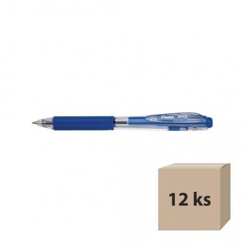 Guľôčkové pero Pentel BK437-B, modré, 12 ks